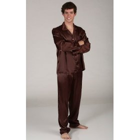 Burgundy Silk Pajamas